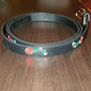 Torrid Black & Rose Embellished Belt - 2